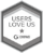 HUBSPOT USERS LOVE US - black and white