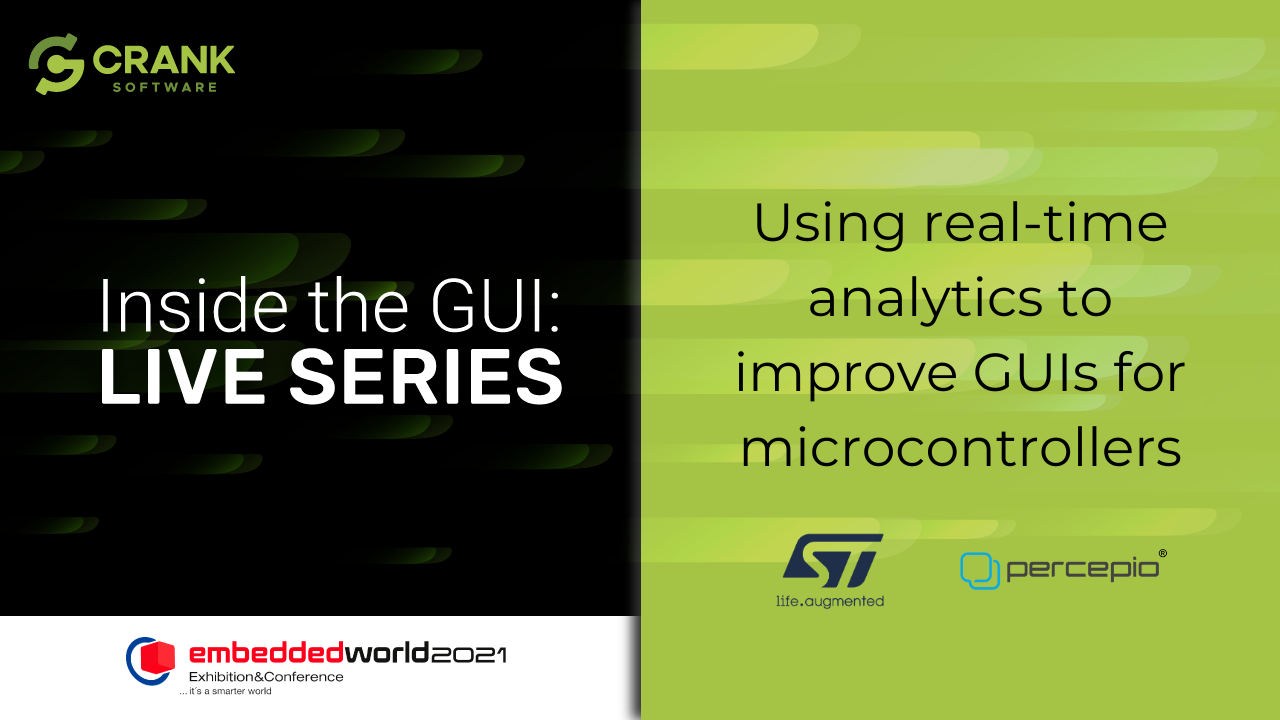 Using real-time analytics to improve GUIs for microcontrollers with ST & Percepio