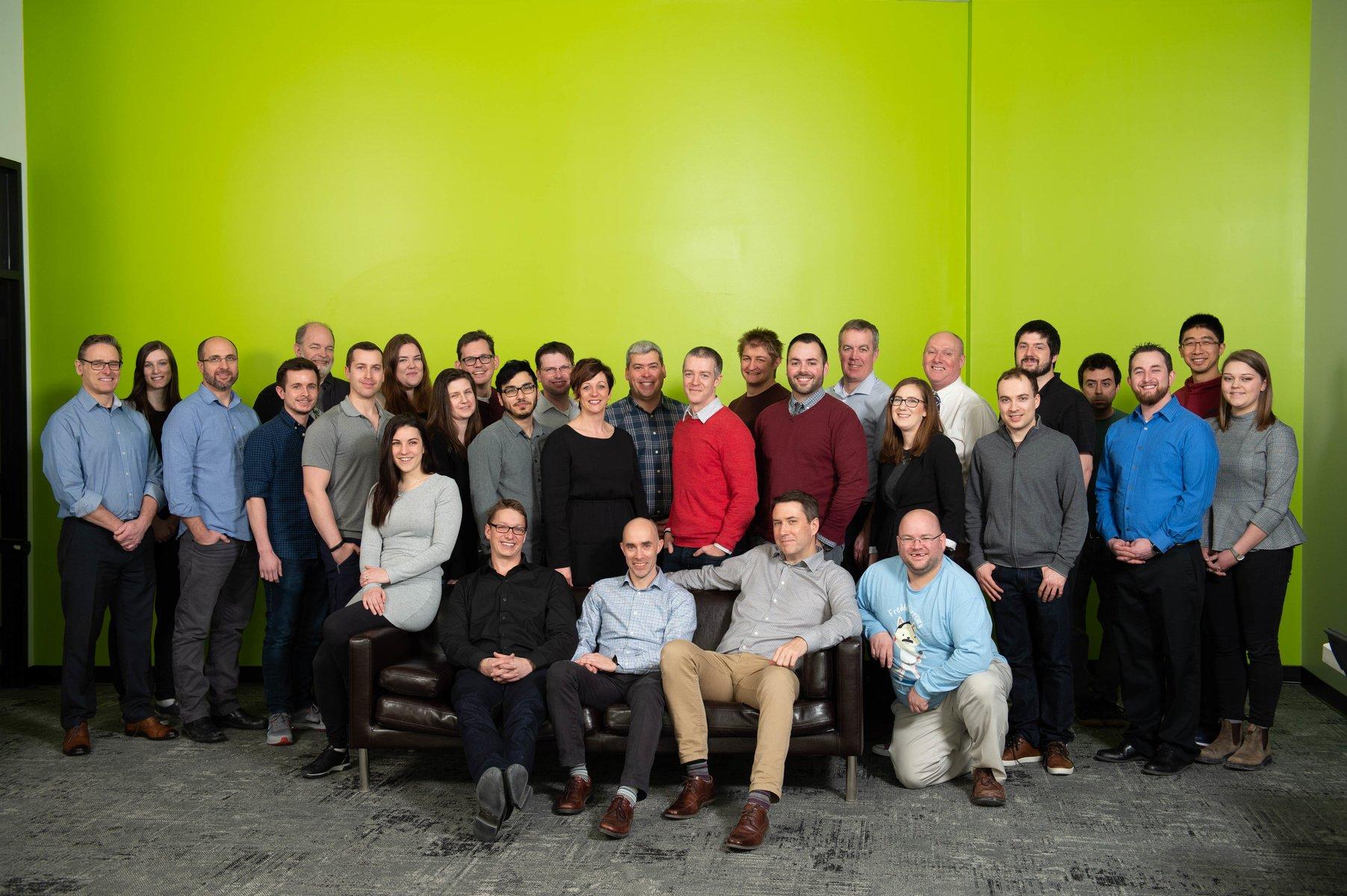 Crank Software's employee group photo