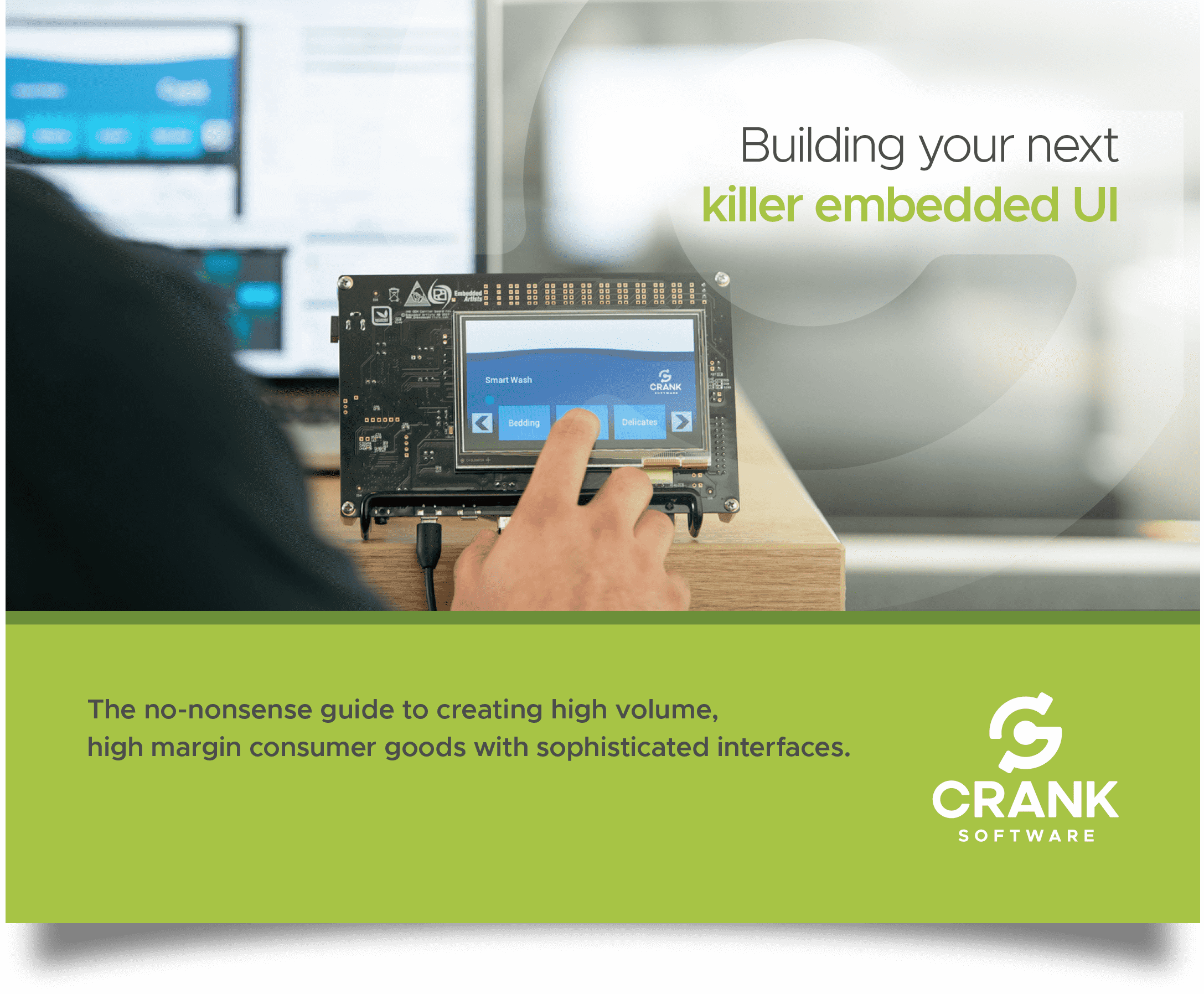 Crank Software's eBook cover: Building your next killer embedded UI