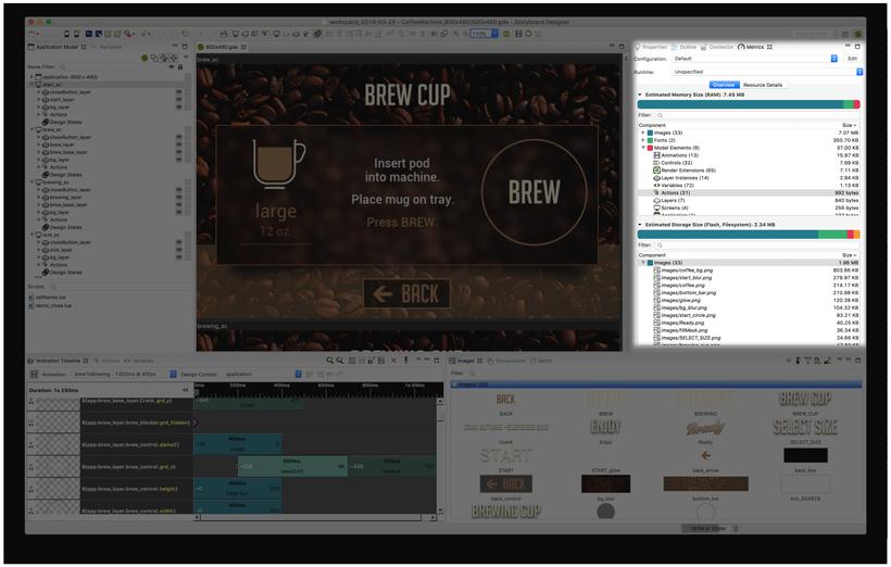 Crank Storyboard GUI project showing metrics calculator