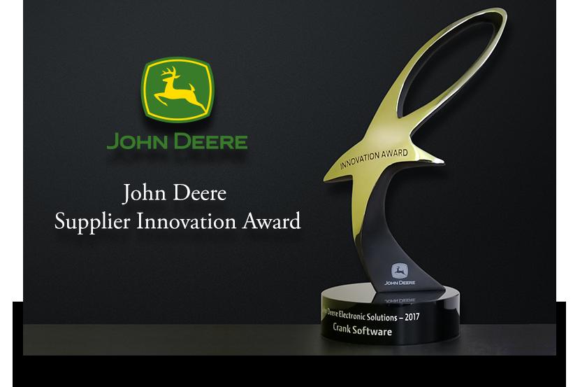 John Deere innovation award awarded to Crank Software