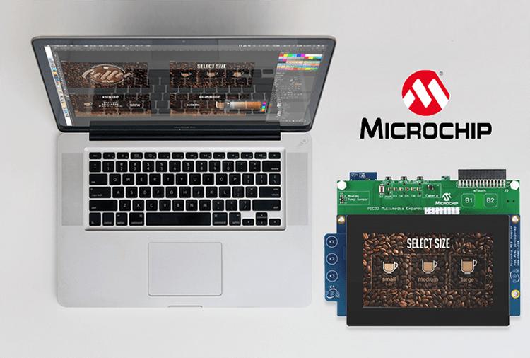 microchip board featuring a coffee maker demo image