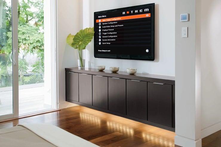 Anthem's modern media room with UI