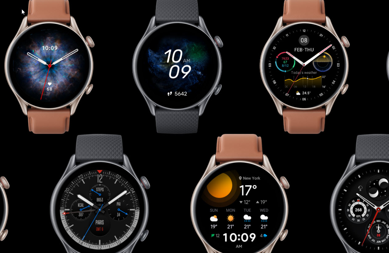 sample wearable smartwatch with Crank GUI - smaller