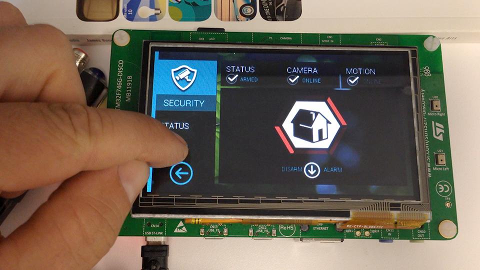 STM32F7 demo image