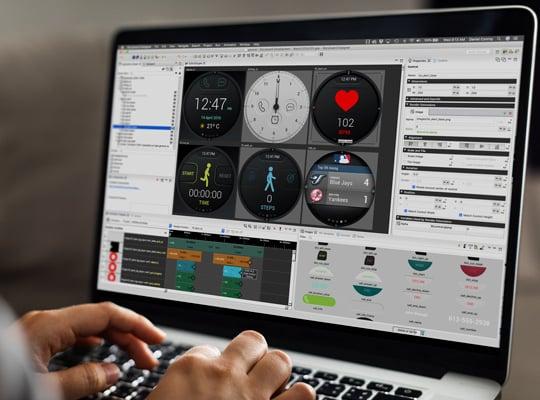 designer managing GUI iterations in Storyboard